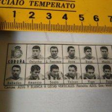 Coleccionismo deportivo: 1959 ALINEACION EQUIPO FUTBOL - 11 JUGADORES Y ESCUDO - CORUÑA 1958. Lote 98856467