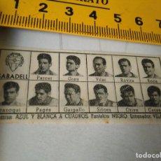 Coleccionismo deportivo: 1959 ALINEACION EQUIPO FUTBOL - 11 JUGADORES Y ESCUDO - SABADELL SABADEL 1958. Lote 98856627