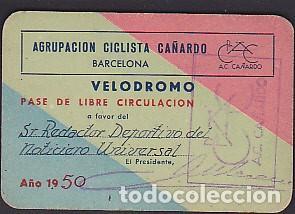 CARNET AGRUPACION CICLISTA CAÑARDO 1950 (Coleccionismo Deportivo - Documentos de Deportes - Otros)