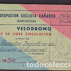 Coleccionismo deportivo: CARNET AGRUPACION CICLISTA CAÑARDO 1950. Lote 99926503