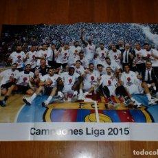 Coleccionismo deportivo: PÓSTER GIGANTE - REAL MADRID - CAMPEÓN LIGA 2015 BALONCESTO. Lote 100657887