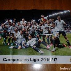 Coleccionismo deportivo: PÓSTER GIGANTE - REAL MADRID - CAMPEÓN LIGA 2016/2017. Lote 100657991