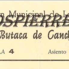 Coleccionismo deportivo: ENTRADA, FRONTÓN MUNICIPAL DE LEQUEITIO, 1976. Lote 101020843