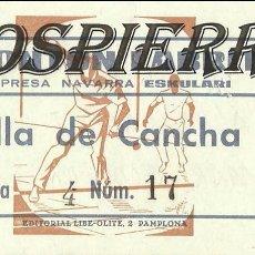 Coleccionismo deportivo: ENTRADA, FRONTÓN LABRIT DE PAMPLONA, 1976. Lote 101021167