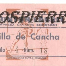 Coleccionismo deportivo: ENTRADA, FRONTÓN LABRIT DE PAMPLONA, 1976. Lote 101021231