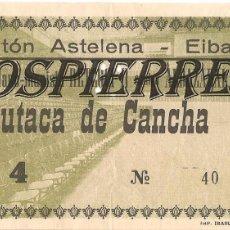 Coleccionismo deportivo: ENTRADA, FRONTÓN ASTELENA DE EIBAR, 1976, . Lote 101023707