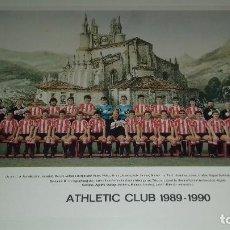 Coleccionismo deportivo: TARJETON PLANTILLA ATHLETIC CLUB DE BILBAO OFICIAL TEMPORADA 1989-1990 27 X 21 CM PERFECTO ESTADO. Lote 131685518