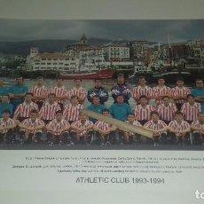 Coleccionismo deportivo: TARJETON PLANTILLA ATHLETIC CLUB DE BILBAO OFICIAL TEMPORADA 1993-1994 27,5 X 21 CM PERFECTO ESTADO. Lote 133890063