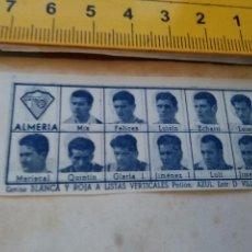 Coleccionismo deportivo: 1960 ALINEACION EQUIPO FUTBOL - 11 JUGADORES Y ESCUDO - CLUB - ALMERIA . Lote 102942175