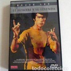 Coleccionismo deportivo: DVD DOCUMENTAL BRUCE LEE EL HOMBRE Y SU LEYENDA - ARTES MARCIALES MAESTRO KUNG FU IMÁGENES INÉDITAS. Lote 102969107