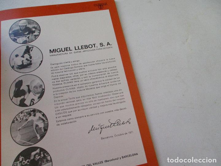 Coleccionismo deportivo: CLIMAX CATÁLOGO OCTUBRE 1971- MIGUEL LLEBOT- BARCELONA - Foto 2 - 102970379