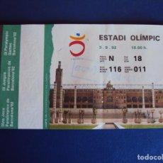Coleccionismo deportivo: (F-171181)ENTRADA CEREMONIA APERTURA IX JUEGOS PARALIMPICOS DE BARCELONA 1992 ESTADI OLIMPIC. Lote 103370479