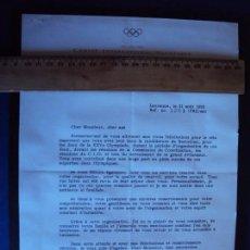 Coleccionismo deportivo: (F-171183)FIRMA SECRETARIO COMITE OLIMPICO INTERNACIONAL. Lote 103371451