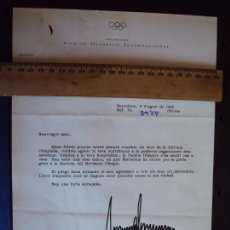 Coleccionismo deportivo: (F-171185)FIRMA DE JOAN ANTONI SAMARACH PRESIDENTE COI - OLIMPIADA DE BARCELONA 92. Lote 103372063