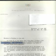 Coleccionismo deportivo: (F-171188)FIRMA DE FRANCOIS CARRARD COMITE OLIMPICO INTERNACIONAL-OLIMPIADA BARCELONA 92. Lote 103396971