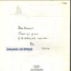 Coleccionismo deportivo: (F-171189)FIRMA DE LORD KILLANIN PRESIDENTE HONORARIO DEL COMITE OLIMPICO INTERNACIONAL. Lote 103397463
