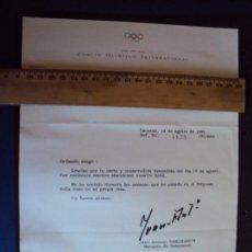 Coleccionismo deportivo: (F-171190)FIRMA DE JUAN ANTONIO SAMARANCH PRESIDENTE DEL COI-OLIMPIADAS BARCELONA 92. Lote 103397691