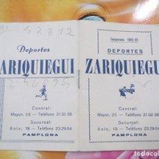 Coleccionismo deportivo: PROGRAMA DEPORTES ZARIQUIEGUI, TEMPORADA 1982-83. Lote 103600627