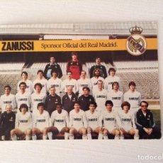 Coleccionismo deportivo: POSTAL REAL MADRID ZANUSSI 1982 - 1983. Lote 103992871