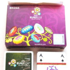 Coleccionismo deportivo: 2 BARAJA CARTAS DECK OF CARDS BRIDGE UEFA EURO 2012 NEW + COMPLETA + ESTUCHE. Lote 104684875