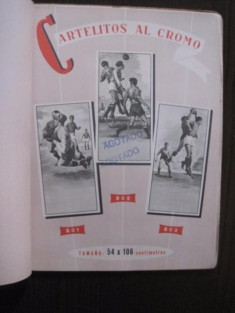 Coleccionismo deportivo: CATALOGO PROPAGANDA DEPORTIVA - FUTBOL - IMPRENTA ORTEGA -VER FOTOS- (V-12.832) - Foto 10 - 104897103