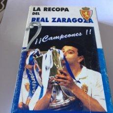 Coleccionismo deportivo: VHS LA RECOPA DEL REAL ZARAGOZA 1995. Lote 105259299