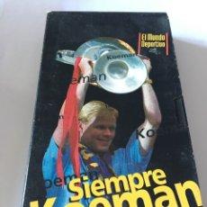 Coleccionismo deportivo: VHS SIEMPRE KOEMAN BARCELONA. Lote 105260012