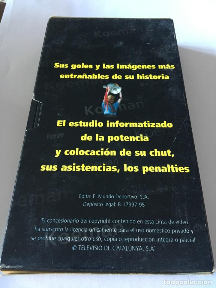 Coleccionismo deportivo: Vhs siempre Koeman Barcelona - Foto 2 - 105260012