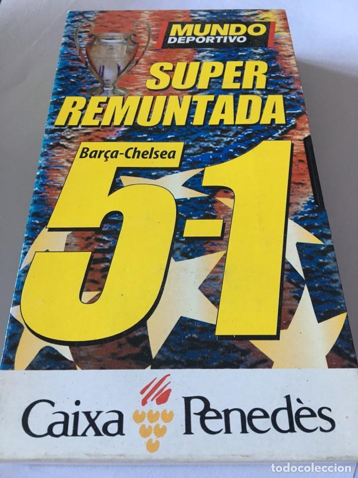 VHS SUPER REMUNTADA BARSA - CHELSEA 5-1 (Coleccionismo Deportivo - Documentos de Deportes - Otros)