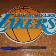Coleccionismo deportivo: PEGATINA GRANDE NBA LOS ANGELES LAKERS. Lote 107830935