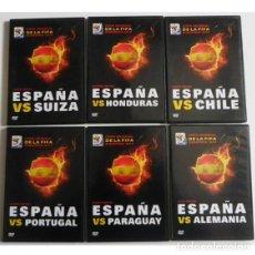 Coleccionismo deportivo: 15 € CADA DVD - MUNDIAL DE FÚTBOL SUDÁFRICA 2010 ESPAÑA FUE CAMPEONA DVDS DEPORTE PARTIDOS SELECCIÓN. Lote 108255135