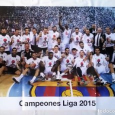 Coleccionismo deportivo: PÓSTER CAMPEONES LIGA 2015. REAL MADRID (33X59CM). Lote 108725483