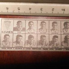 Coleccionismo deportivo: 1960 ALINEACION EQUIPO FUTBOL - 11 JUGADORES Y ESCUDO - CLUB - GIJON. Lote 109305267