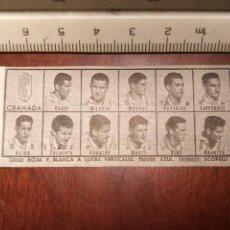 Coleccionismo deportivo: 1960 ALINEACION EQUIPO FUTBOL - 11 JUGADORES Y ESCUDO - CLUB - GRANADA. Lote 109305423