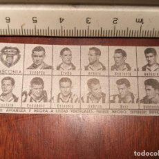 Coleccionismo deportivo: 1960 ALINEACION EQUIPO FUTBOL - 11 JUGADORES Y ESCUDO - CLUB - BASCONIA. Lote 109305443