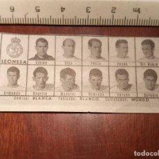 Coleccionismo deportivo: 1960 ALINEACION EQUIPO FUTBOL - 11 JUGADORES Y ESCUDO - CLUB - LEONESA. Lote 109305527