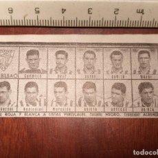 Coleccionismo deportivo: 1960 ALINEACION EQUIPO FUTBOL - 11 JUGADORES Y ESCUDO - CLUB - AT. BILBAO. Lote 109305579