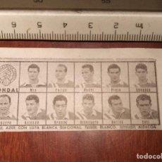 Coleccionismo deportivo: 1960 ALINEACION EQUIPO FUTBOL - 11 JUGADORES Y ESCUDO - CLUB - CONDAL. Lote 109306155