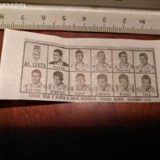 Coleccionismo deportivo: 1960 ALINEACION EQUIPO FUTBOL - 11 JUGADORES Y ESCUDO - CLUB - AT. CEUTA. Lote 109307739