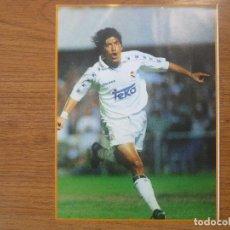 Coleccionismo deportivo: LAMINA MAXI CROMO REAL MADRID ASEGURATOR GRUPO OTAYSA Nº 123 IVAN ZAMORANO - 24 X 18 CMS.. Lote 110117279