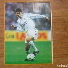 Coleccionismo deportivo: LAMINA MAXI CROMO REAL MADRID ASEGURATOR GRUPO OTAYSA Nº 131 RAUL GONZALEZ - 24 X 18 CMS.. Lote 110117667