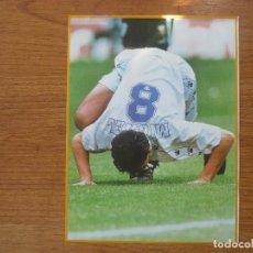 Coleccionismo deportivo: LAMINA MAXI CROMO REAL MADRID ASEGURATOR GRUPO OTAYSA Nº 129 MICHEL - 24 X 18 CMS.. Lote 110117747