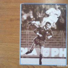 Coleccionismo deportivo: LAMINA MAXI CROMO REAL MADRID ASEGURATOR GRUPO OTAYSA Nº 85 CARLOS SANTILLANA - 24 X 18 CMS.. Lote 110118387