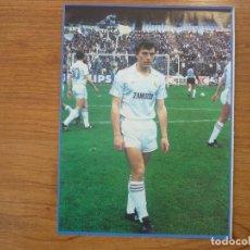 Coleccionismo deportivo: LAMINA MAXI CROMO REAL MADRID ASEGURATOR GRUPO OTAYSA Nº 103 EMILIO BUTRAGUEÑO - 24 X 18 CMS.. Lote 110119351
