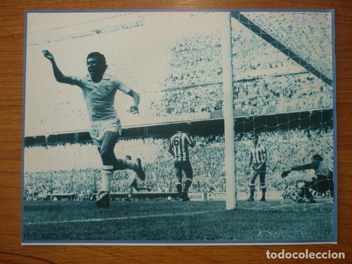 LAMINA MAXI CROMO REAL MADRID ASEGURATOR GRUPO OTAYSA Nº 105 JORGE VALDANO - 24 X 18 CMS. (Coleccionismo Deportivo - Documentos de Deportes - Otros)
