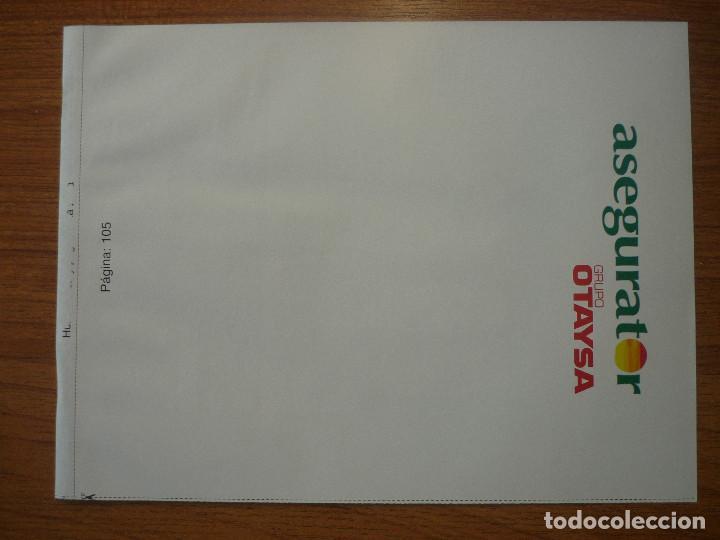 Coleccionismo deportivo: LAMINA MAXI CROMO REAL MADRID ASEGURATOR GRUPO OTAYSA Nº 105 JORGE VALDANO - 24 X 18 CMS. - Foto 2 - 110119431