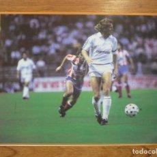 Coleccionismo deportivo: LAMINA MAXI CROMO REAL MADRID ASEGURATOR GRUPO OTAYSA Nº 113 BERND SCHUSTER - 24 X 18 CMS.. Lote 110119819