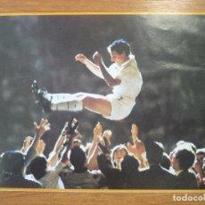 Coleccionismo deportivo: LAMINA MAXI CROMO REAL MADRID ASEGURATOR GRUPO OTAYSA Nº 127 DESPEDIDA BUTRAGUEÑO - 24 X 18 CMS.. Lote 110120555