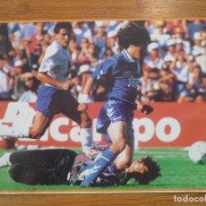 Coleccionismo deportivo: LAMINA MAXI CROMO REAL MADRID ASEGURATOR GRUPO OTAYSA Nº 121 IVAN ZAMORANO - 24 X 18 CMS.. Lote 110120779