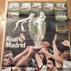 Coleccionismo deportivo: PÓSTER REAL MADRID CAMPEÓN DE EUROPA. Lote 110139531